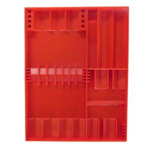 Tool Sorter Screwdriver Organizer Red