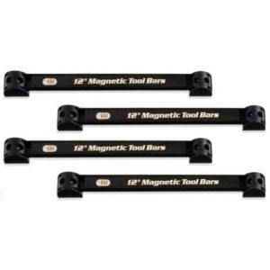4pc Heavy-Duty 12 Magnetic Tool Organizer Racks