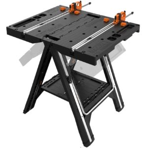 WORX Pegasus Multi-Function Work Table and Sawhorse with Quick Clamps and Holding Pegs