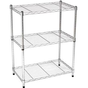 AmazonBasics 3-Shelf Adjustable Storage Shelving Unit