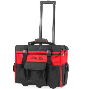 XtremepowerUS Rolling Tool Bag with Wheels Organizer Telescoping Handle