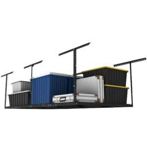 FLEXIMOUNTS 4x8 Overhead Garage Storage Rack Adjustable Ceiling Garage Rack Heavy Duty