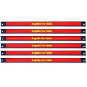 Goplus 6PCS 18 Magnetic Tool Holder, Organizer Racks Set, Metal Storage Organizer Bar