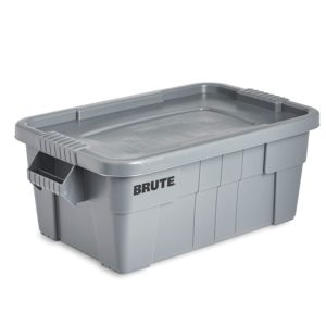 Rubbermaid Commercial Brute Tote Storage Bin With Lid