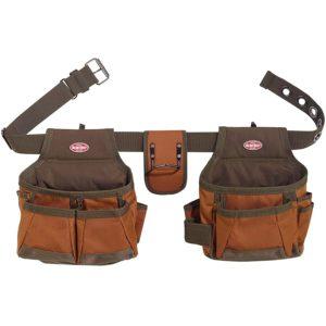 Bucket Boss 2 Bag Tool Belt in Brown