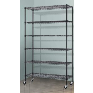 Storage Metal Shelf Wire Shelving Unit with Wheels