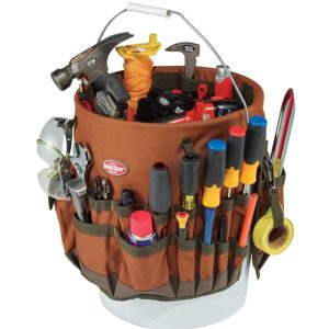 Bucket Boss The Bucketeer Bucket Tool Organizer in Brown