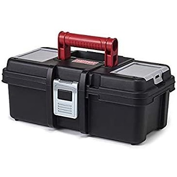 Craftsman 13 Inch Tool Box with Tray - Black/Red