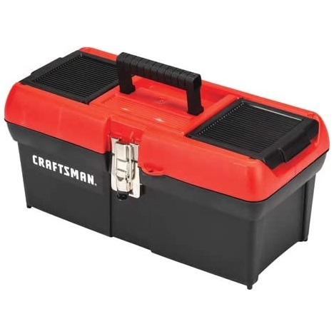 CRAFTSMAN DIY 16-in Red Plastic Lockable Tool Box