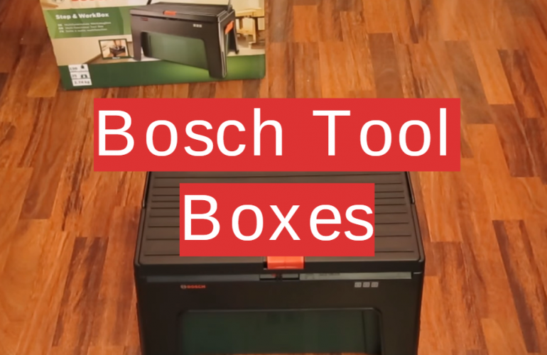 5 Bosch Tool Boxes