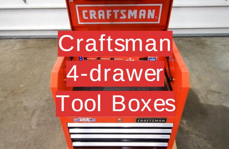 5 Craftsman 4-drawer Tool Boxes