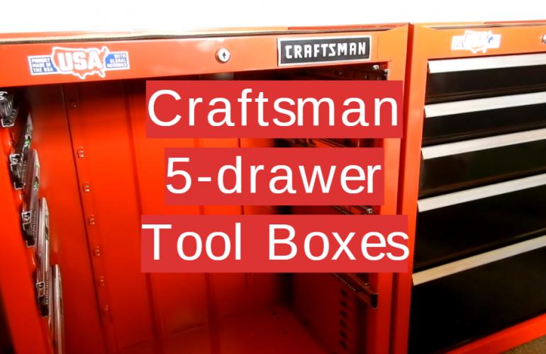 5 Craftsman 5-drawer Tool Boxes