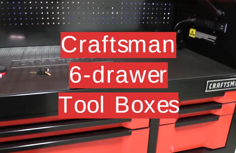 5 Craftsman 6-drawer Tool Boxes