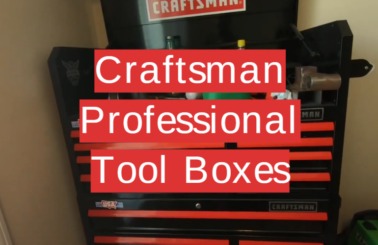 5 Craftsman Professional Tool Boxes