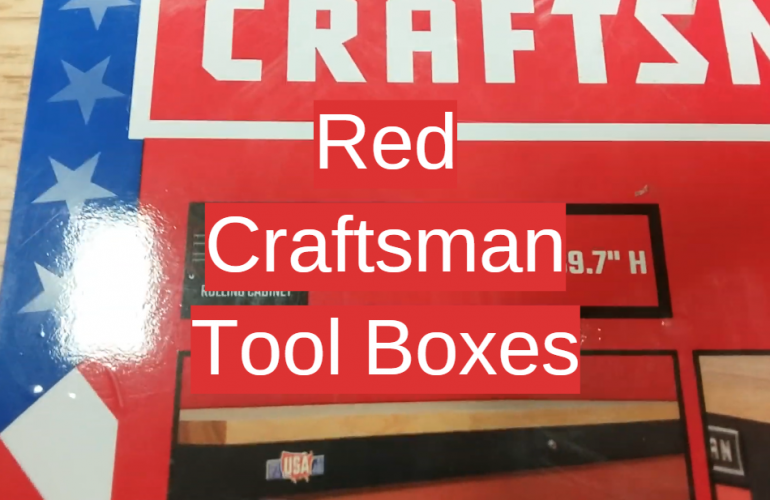 5 Red Craftsman Tool Boxes
